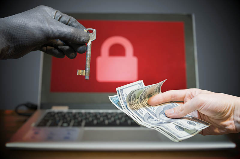 extortion cash encryption key business IT
